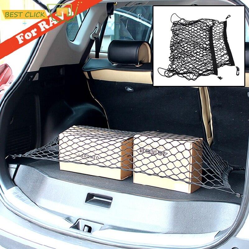 Toyota için RAV4 2013 2014 2015 2016 2017 2018 özel kargo Net bagaj bagaj zemin örgü bagaj siyah elastik naylon kanca düz