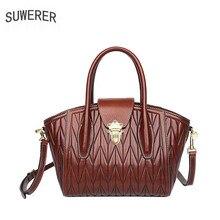 SUWERER 2019 new genuine leather bag for women, handbag shoulder women