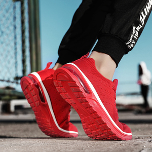 Image 2 - NASONBERG Breathable Soft Men Casual Shoes Height Increasing Non slip Sneakers Men Red Shoes Woman Massage Men Shoes