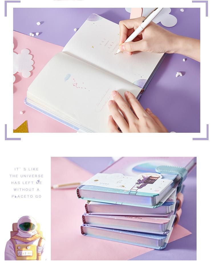 1 pçs fivela magnética caderno pintado página