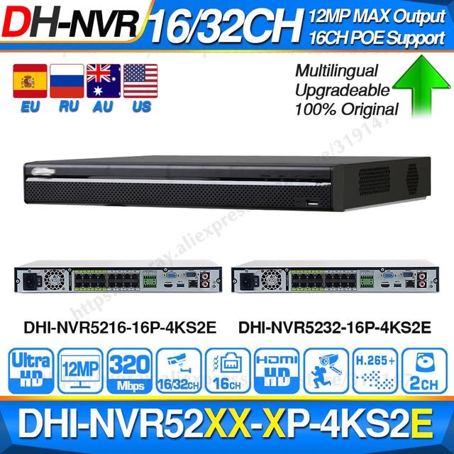 Dahua פרו 32CH NVR NVR5232 16P 4KS2E עם 16CH PoE יציאת תמיכה שתי דרך שיחת e POE 800M מקסימום רשת וידאו מקליט עבור מערכת.