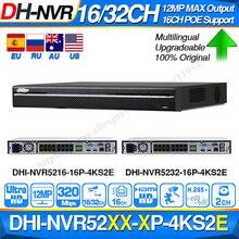 Dahua Original Pro NVR NVR5216 16P 4KS2E NVR5232 16P 4KS2E 16CH PoE Port 8CH 800m E POE Max 320Mbps Network Video Recorder