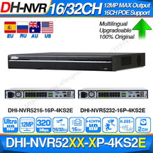 Dahua Pro 32CH NVR NVR5232 16P 4KS2E с 16CH PoE портом поддержка двухстороннего разговора e POE 800 м Макс сетевой видеорегистратор для системы.