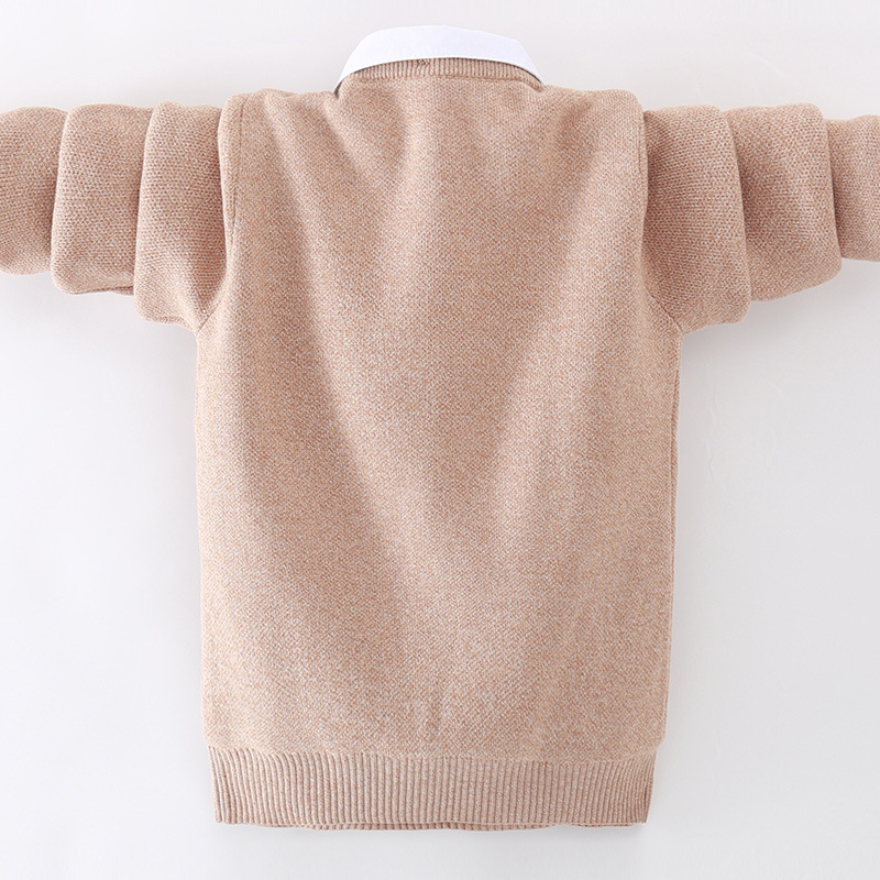 winter children's clothing Boy's clothes pullover Sweater Kids clothes Cotton products Keep warm Boy sweater Thicker 5
