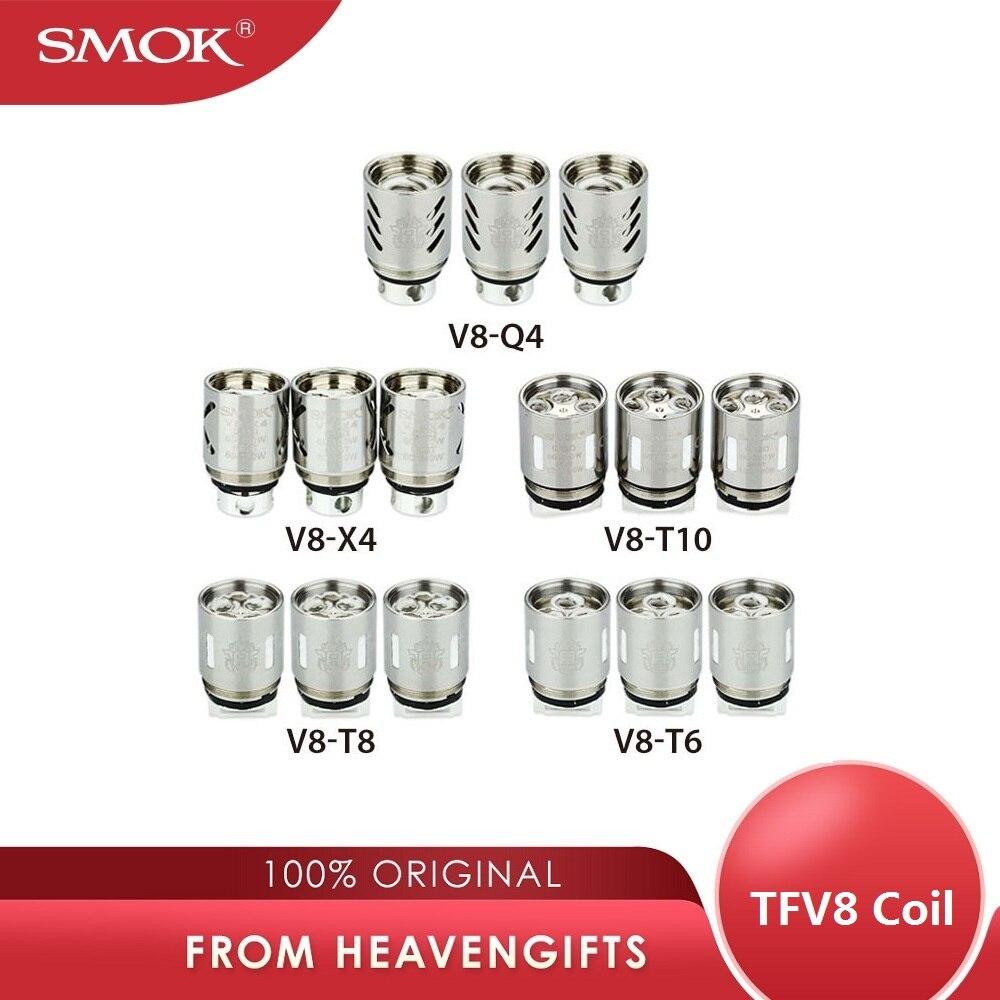 3 pièces SMOK TFV8 bobine V8-X4/V8-Q4/V8-T6/V8-T8/noyau de V8-T10 Decuple/Quadruple/Sextuple/Octuple tête pour TF-V8 atomiseur de réservoir de bête