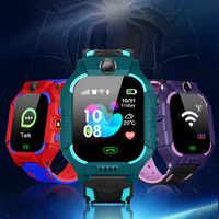 Q19 enfants montre intelligente LBS positionnement Lacation SOS caméra téléphone intelligent bébé montre voix Chat Smartwatch VS Q02 Q528