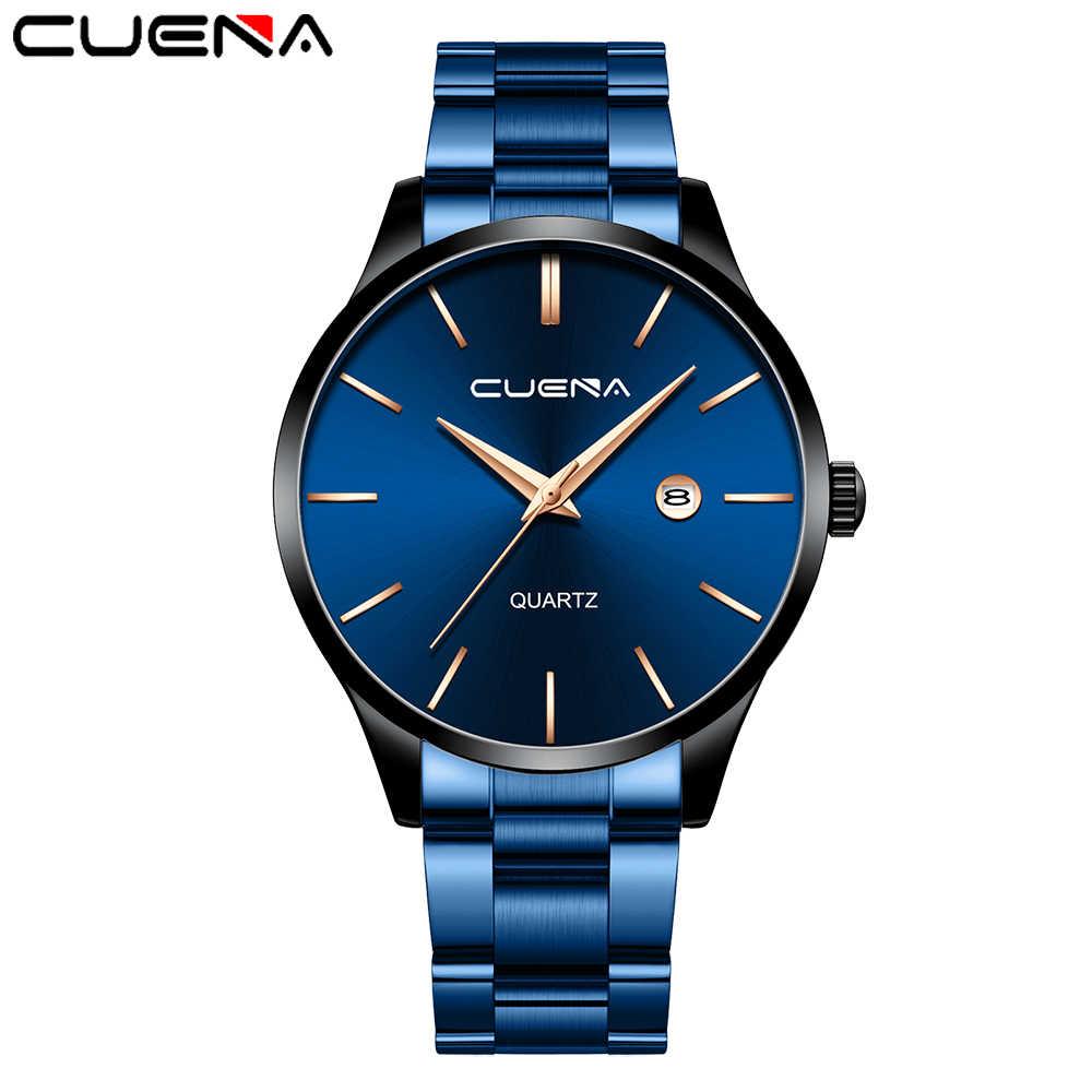 メンズ腕時計トップブランドクォーツ腕時計ムーブメント高級ビジネスゴールドミリタリースポーツウォッチ防水レロジオ Masculino CUENA
