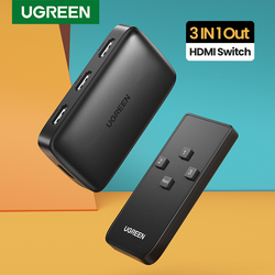 Ugreen HDMI Switch for Xiaomi Mi Box 3 In 1 Out HDMI Switcher 4K/30Hz for TV box PS4 Switch HDMI 4K with Controller HDMI Cable