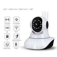 WiFi IP Camera 1080P HD Home Security Camera 3 Antenna Wireless Signal Enhancement Two Way Audio Night Vision Smart CCTV Camera