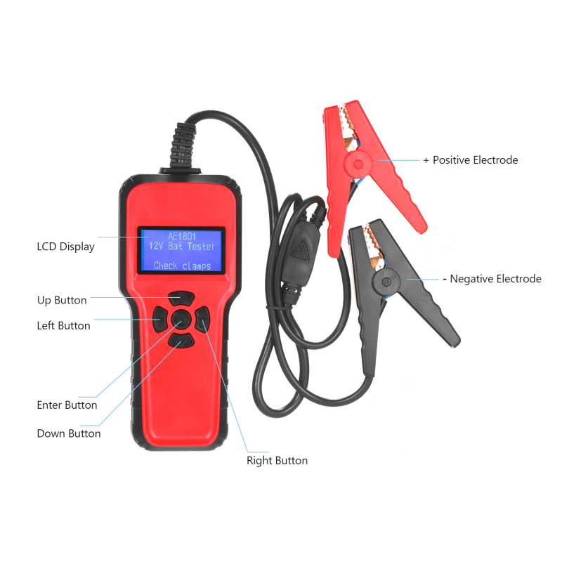 Car Electric Load Charging System Detect AE1801 Car Battery Tester Digital Battery Analyzer Inspection Repair Tool Battery Test