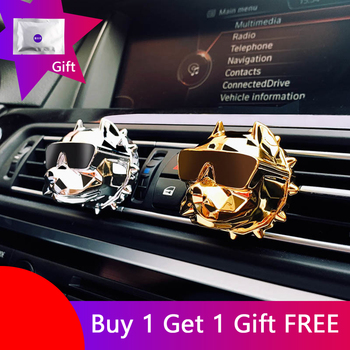 ODOMY Bulldog Car Air Freshener Perfume Clip Fragrance Diffuser Auto Vents Scent Odor DIY Decor Accessories