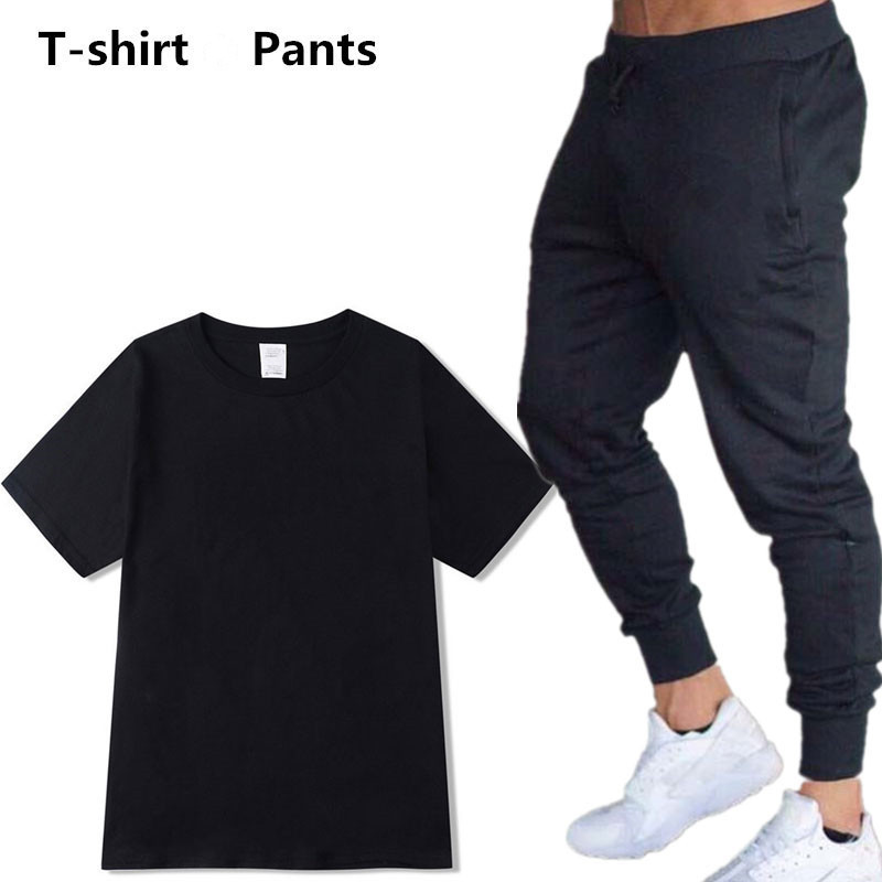 Hot Sales Cotton T-shirt And Pants Men And Women Short-sleeved Top Set Fashion Casual T-shirt Short Sleeve Set