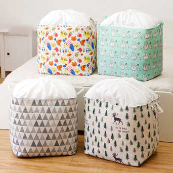 1pc Cotton Clothing Storage Bags For Toys Organizer For Clothes Wardrobe Eco Bag To Store Clothes Quilt Storage Items Waterproof - DISCOUNT ITEM  31 OFF Home & Garden