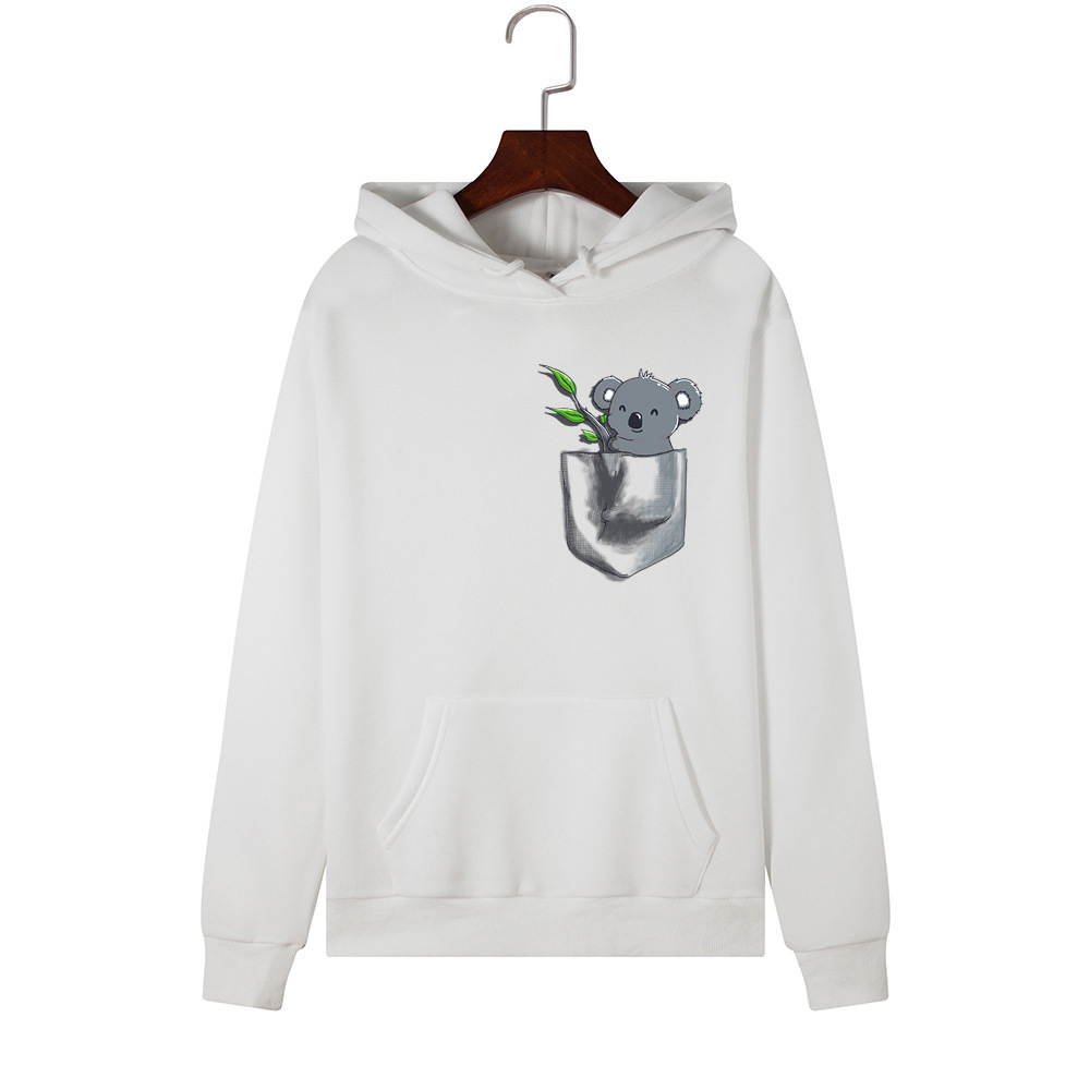 H31e0931d90a747cc923d8d2a21a5c14aF - Hoodies Women Brand Female Long Sleeve Cute Animal Koala Print Hooded Sweatshirt Tracksuit Pullover Casual Sportswear S-2XL