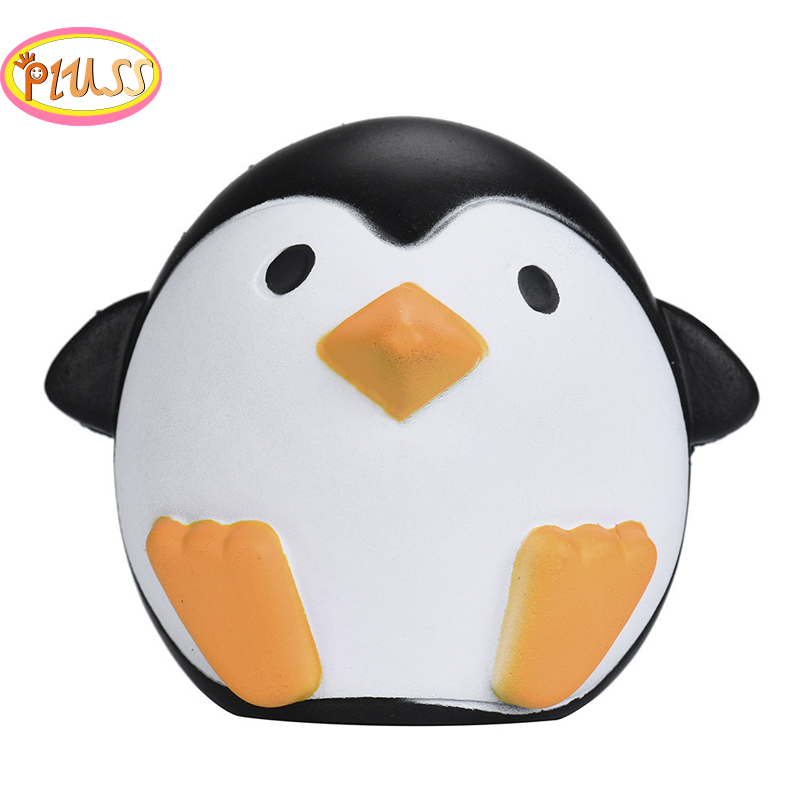 12CM Kawaii Jumbo Pinguin Squishy Animals Doll Slow Rising Squeeze Toys Cream Sweet Scented Anti Stress Toy For Funny Kid  Gift