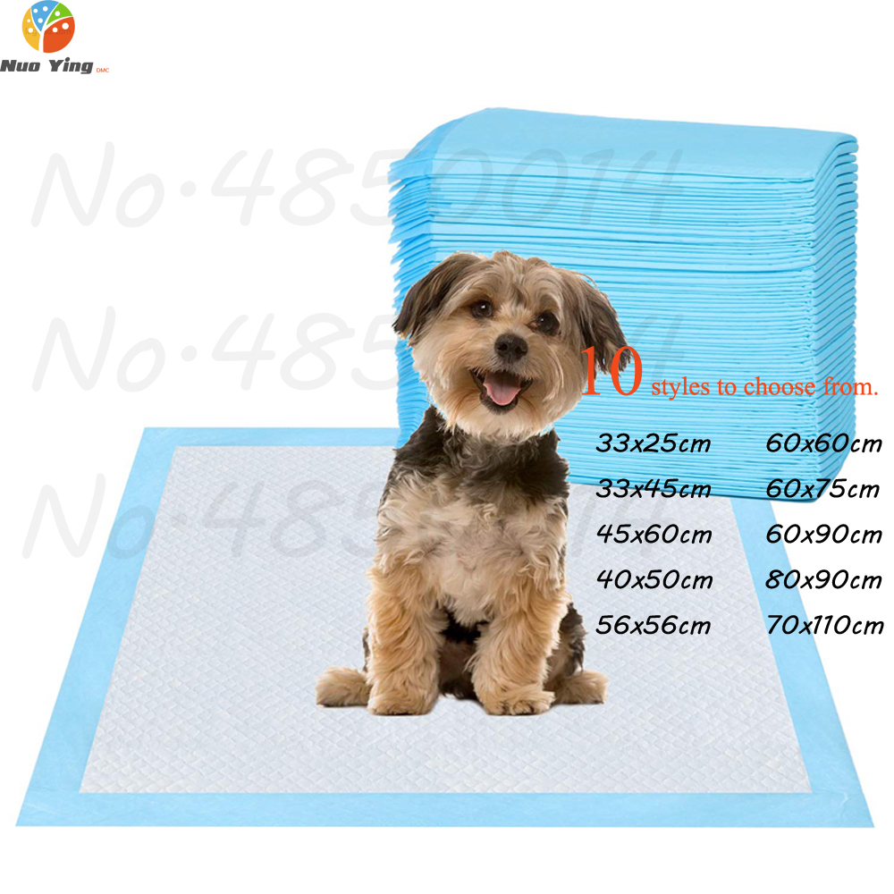 100pcs Dog Training Pee Pads Super Absorbent Pet Diaper Disposable Healthy Clean Nappy Mat For Pets Dairy Diaper Supplies