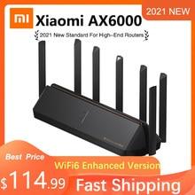 2021 novo xiaomi roteador ax6000 aiot roteador 6000mbs wifi6 vpn 512mb qualcomm cpu malha repetidor de sinal externo amplificador rede m