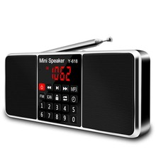 Hot AMS-Multifunction Digital Fm Radio Media Speaker Mp3 Music Player Support Tf Card Usb Drive With Led Screen Display And Ti(China)