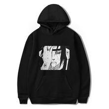 Anime Sasuke/Kakashi Sasuke men/womens Hoodie Japanese Sweatshirt Harajuku Cartoon Autumn Hoodies Streetwear Hip Hop Black hoody