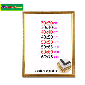 Wood stretcher diy oil painting diamond Mosaic Thick wood frame wall painting picture frame Photo Inner frame sticker