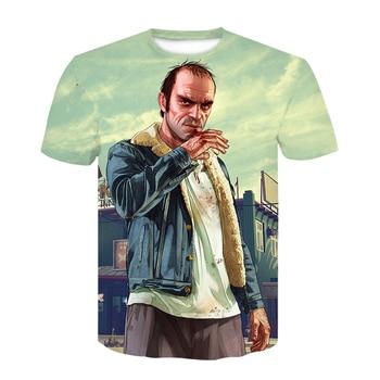 2020 Grand Theft Auto Gta V 5  T Shirts GTA 5 Game t shirt  Tee Tops boy short Sleeve summer clothes tee shirt homme dropshiping 2