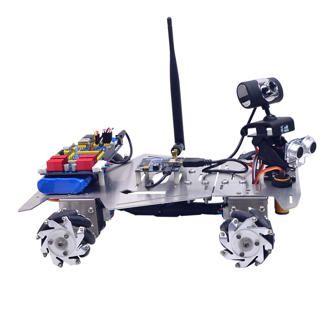 XR Master Omni-Directional Mecanum Wheel Robot Educational Toy Gift For Kid Children Adult-WIFI + Bluetooth Version/WIFI Version