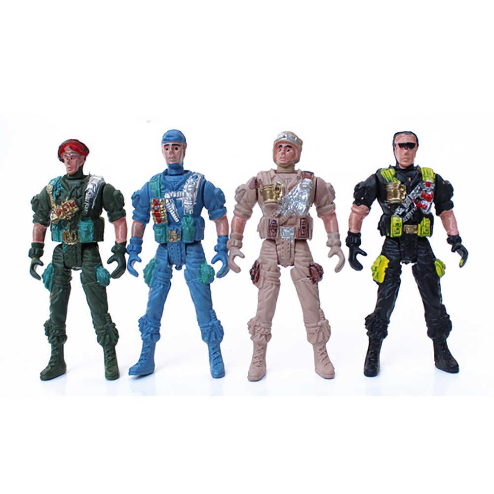1 sztuk 9cm Mini dzieci plastikowe żołnierz wojskowy Model zabawki akcji armii mężczyzn figurka zabawka Home Decor edukacyjne dla dzieci zabawki