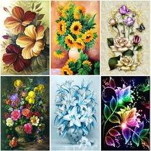 Алмазная 5d картина «сделай сам» с цветами и розами полное круглое