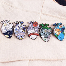 Heart Zinc Alloy Lapel Pins Van Gogh utterfly Whale Feminism Brooches Badges Fashion Pins Gifts for Friends Pins Jewelry