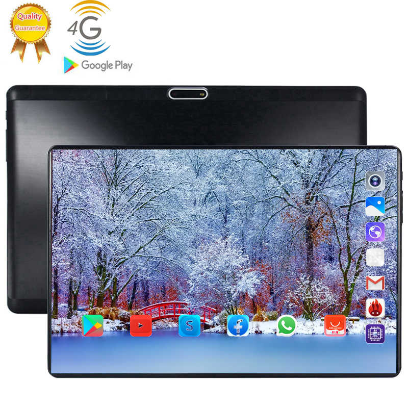 128G 2020 Multi-touch Glas Scherm Octa Core 4G LTE Tablet 6GB RAM 128GB ROM dual Camera Android 9.0 tablet 10 inch Pocket PC