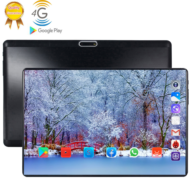 128G 2020 Multi-touch Glass Screen Octa Core 4G  LTE Tablet 6GB RAM 128GB ROM Dual Cameras Android 9.0 Tablet 10 Inch Pocket PC