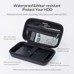 Image 2 - Orico Storage Case Bag Draagbare Hdd Bescherming Tas Oortelefoon Tas Accessoires Case Voor 2.5 Hard Disk Case Usb kabel Power bank