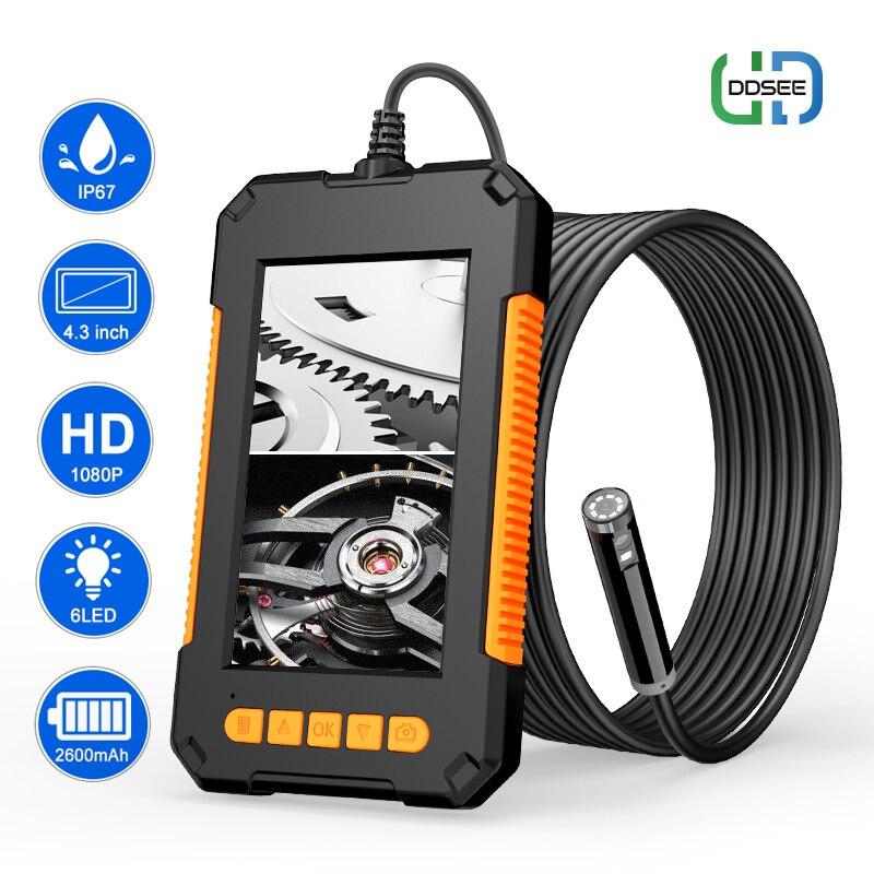 Промышленный эндоскоп P40 с двойным объективом, 8 мм, 1080P, Full HD, 4,3 дюйма, ЖК Цифровая камера для осмотра с жестким проводом для автомобильного д...