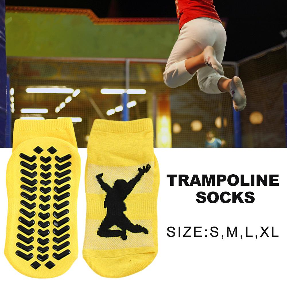 5PCS Kid Adult Anti Skid Socks Trampoline Socks Adult Comfortable Wear Non Slip Floor Socks Sweat Absorbent Yoga Sports Stocking