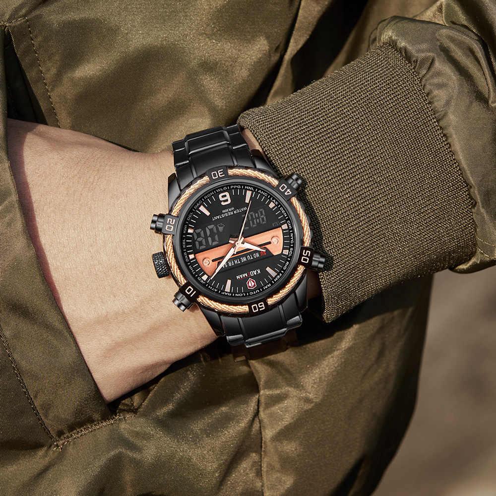 KADEMAN Montre Homme 2019 de diseño creativo de lujo cronógrafo de semana relojes de pulsera deportivos para hombre calendario impermeable Zegarek Meski
