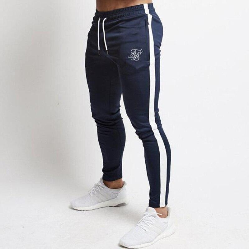 Весна-Осень 2021 Sik шелковые Брендовые мужские тонкие спортивные брюки с принтом повседневные тянущиеся спортивные штаны для фитнеса и бега о...