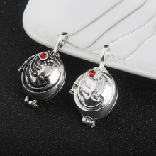 Can Open Vampire Diaries Necklaces Elena Gilbert Opening Vervain Locket Pendant Necklace for Women Men Jewelry