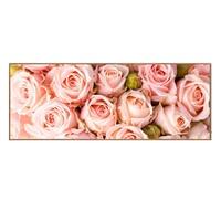 Full diamond painting Pink Rose pattern Painting rhinestone Handmade mosaic Flowers Diy diamond embroidery Decorative 128x48cm