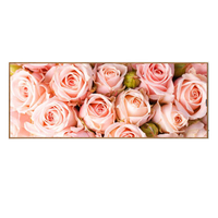 Full diamond painting Pink Rose pattern Painting rhinestone Handmade mosaic Flowers Diy diamond embroidery Decorative 128x48cm