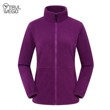 TRVLWEGO Men Women's Fleece Hiking Thermal Jackets Outdoor Sports Climbing Trekking Camping Windbreaker Male Warm Coats