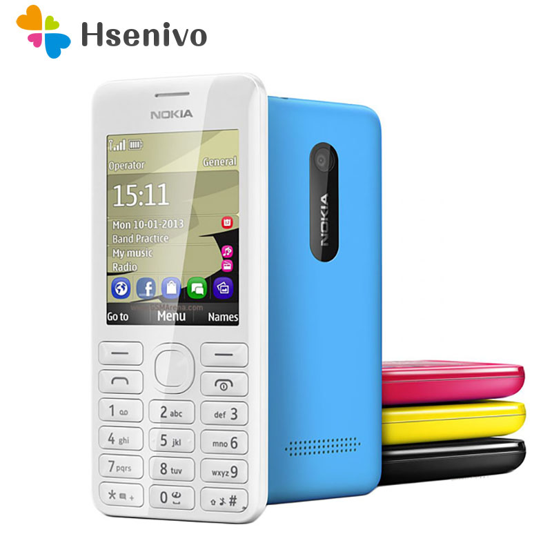2060 Dual Sim Original Nokia 2060 206 2G GSM 1.3MP 1100mAh Unlocked Cheap Refurbished Celluar Phone Refurbished