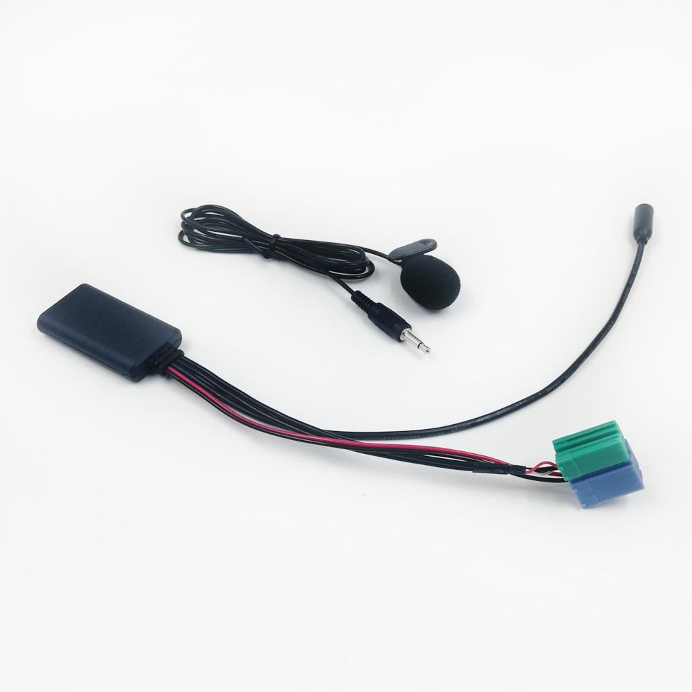 Миниатюрные контакты Biurlink для автомобиля, мини-контакты ISO, ISO, 8 контактов, Bluetooth, аудио, AUX адаптер, гарнитура, микрофон для Renault, список обновл...