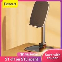 Baseus-Soporte de escritorio telescópico con cargador inalámbrico, soporte para tableta o teléfono móvil Universal, ángulo ajustable