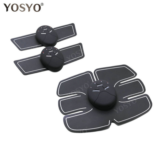 YOSYO EMS Muscle Stimulator Abdominal Machine Electric ABS Wireless Trainer Fitness Weight Loss Body Slimming Massage Retail box 1