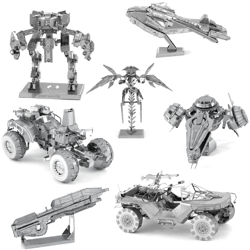 Cheap 3D Metal Puzzle HALO UNSC Model Kits DIY Laser Cut Puzzles Jigsaw Model Educational Toys For Adult Children