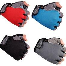 Велосипедные перчатки, противоскользящие, ударопрочные, дышащие, на половину пальца, короткие, спортивные перчатки, аксессуары для мужчин и женщин