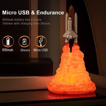 цена 2020 New Dropshipping Space Shuttle Lamp and Moon lamps In Night Light By 3D Print For Space Lovers Rocket Lamp galactics lights онлайн в 2017 году