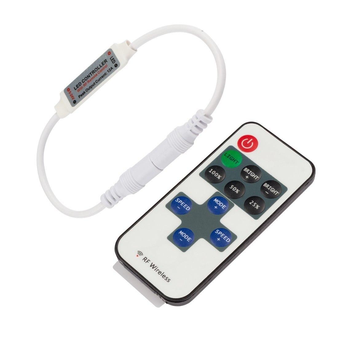 LED Light Modulator Light Belt 11 Key RF Mini Monochrome Light Belt Copper Wire Lamp String DC Head 5-24V Controller