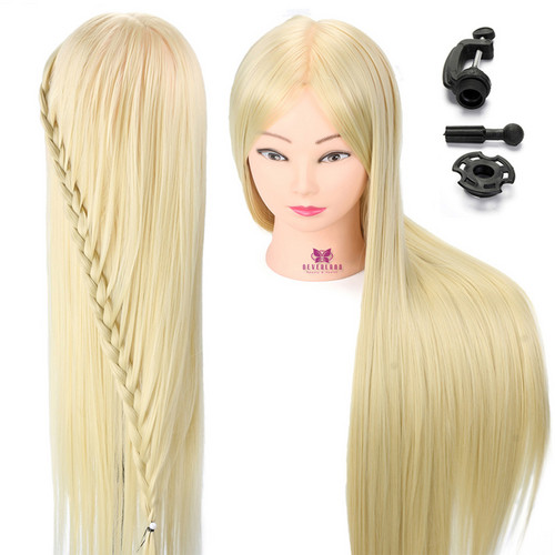 """Neverland 30"""" High Temperature Fiber Hair Styling Mannequin Head Practice Cutting Blonde Hairdressing Dummy Dolls Head For Wig"""