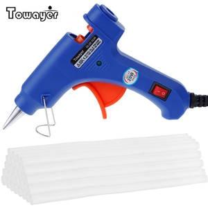 Glue-Gun Guns Heat-Temperature-Tool Electric Hot-Melt Mini Industrial 20W with 7--100mm-Sticks